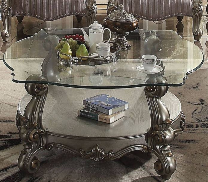 Acme Coffee Table Antique Clear Glass