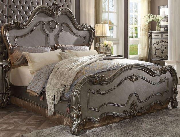 Acme Eastern King Bed Antique Platinum