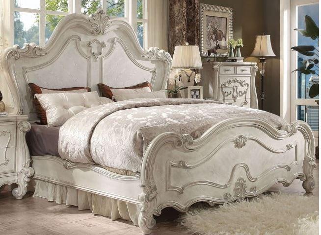 Acme Eastern King Bed Bone White