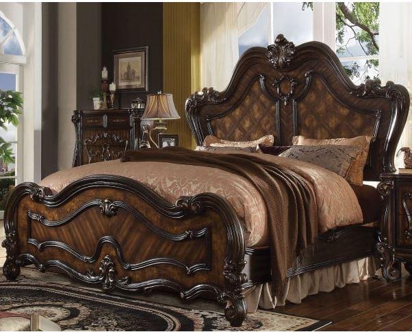 Acme Eastern King Bed Cherry Oak