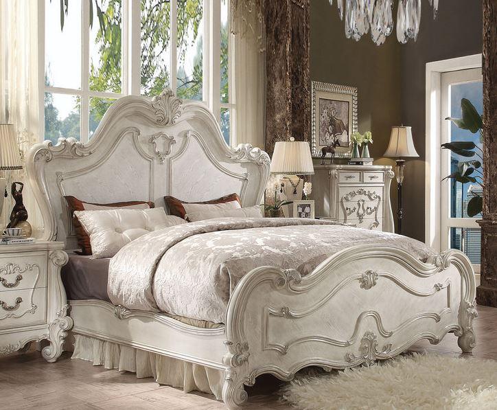 Acme Queen Bed Bone White
