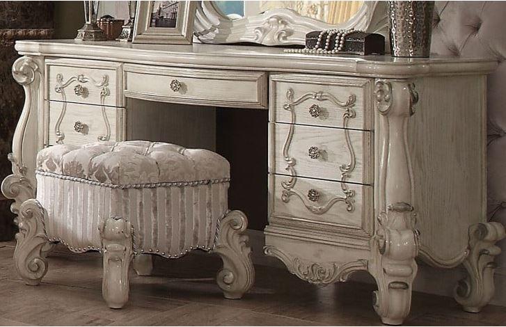 Acme Vanity Desk Bone White