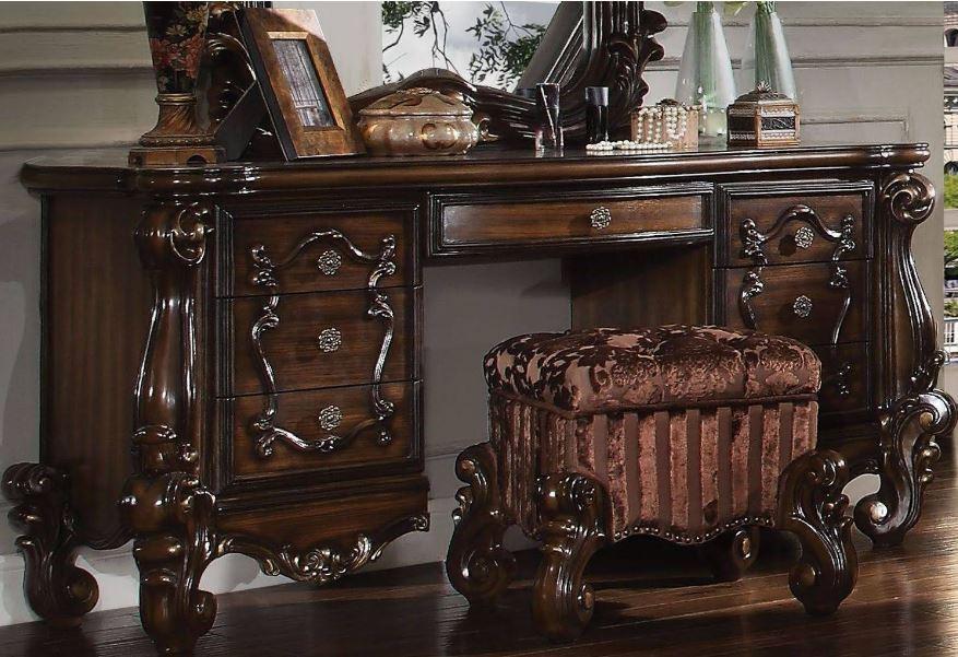Acme Vanity Desk Cherry Oak