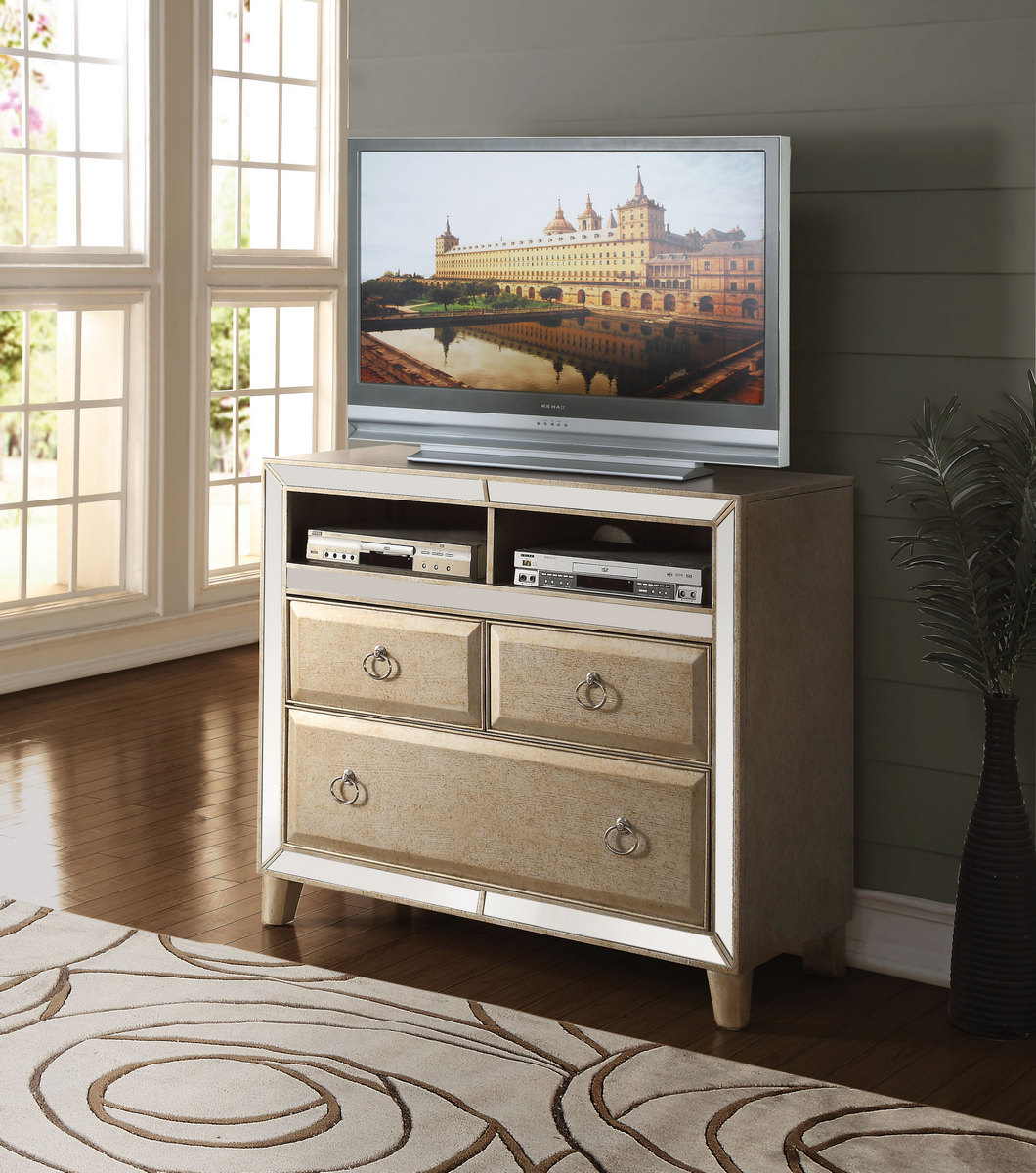 Acme Tv Console Antique Gold