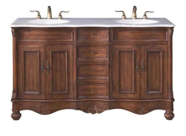 Elegant Lighting Windsor Double Bathroom Vanity