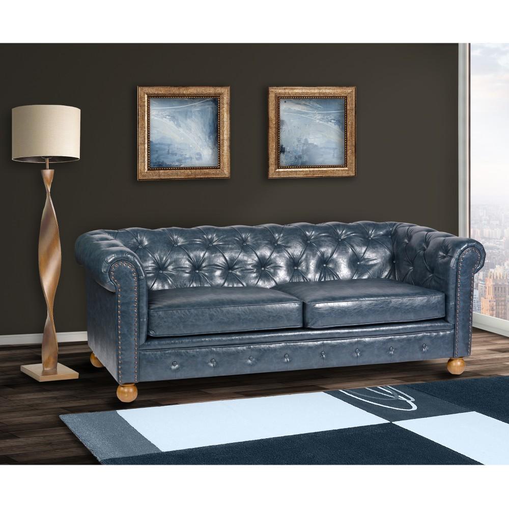 Armen Living Antique Leather Sofa