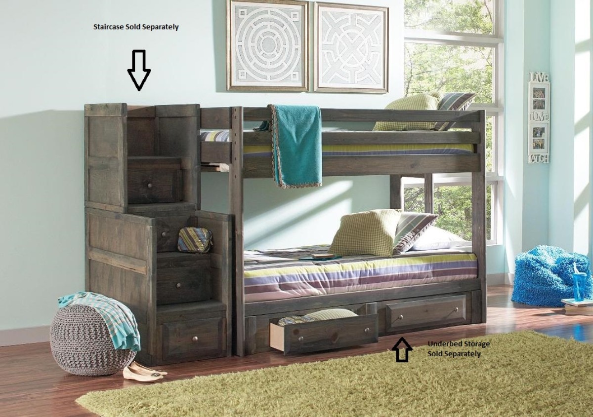 Coaster Twin Rustic Bunk Bed