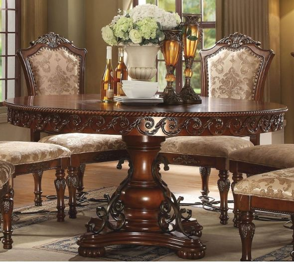 Acme Wycliff Dining Table Pedestal Cherry