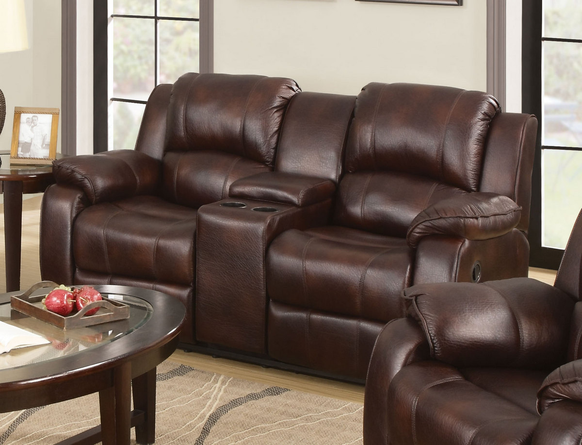 Acme Zanthe Loveseat Console Motion Brown Mfb