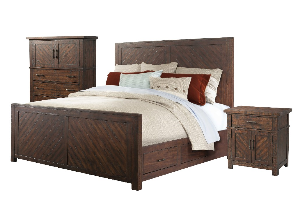 Picket House King Platform Storage Bedroom Set