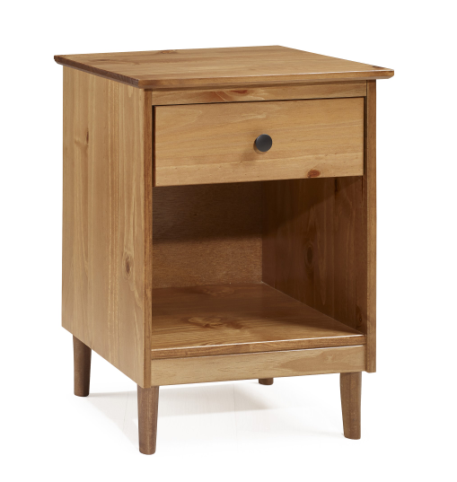 Nightstand | 1-Drawer | Century | Classic | Modern | Solid | Table | Wood