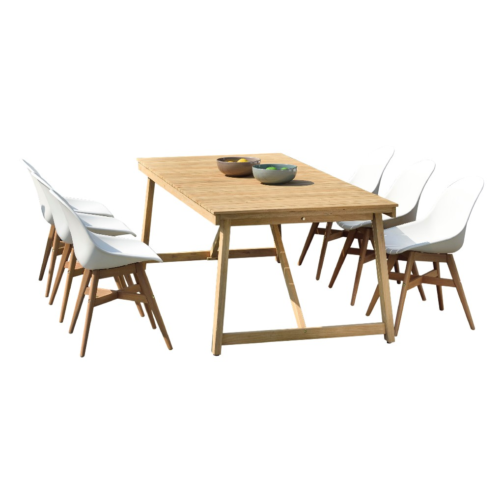 International Home Furniture Dining Set Teak Patio Photo