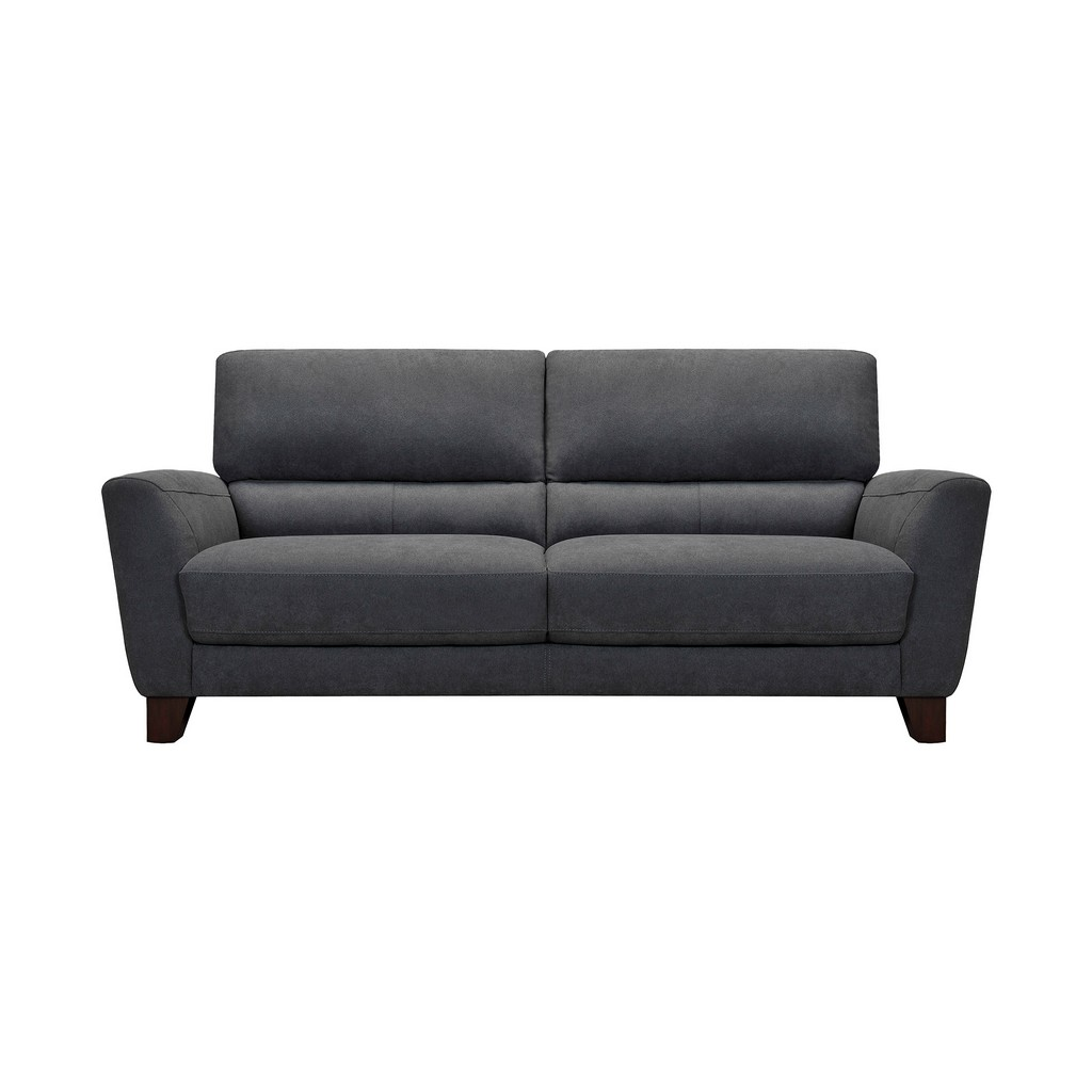 Armen Living Kester Square Arm Gray Fabric Sofa