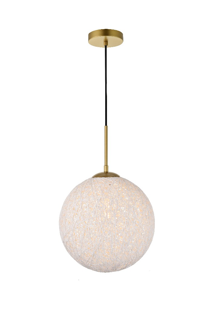 Elegant | Pendant | Brass | Glass | White | Light