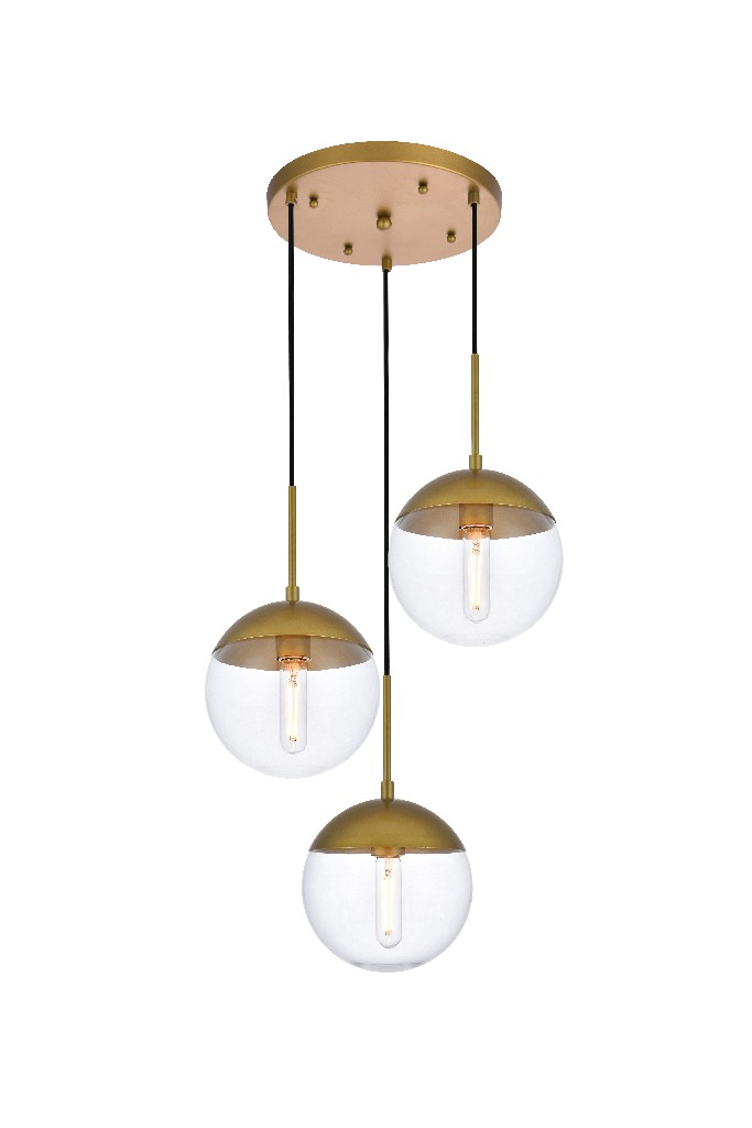 Elegant | Pendant | Brass | Clear | Glass | Light