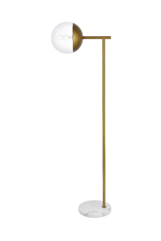 Elegant | Brass | Floor | Clear | Glass | Light | Lamp