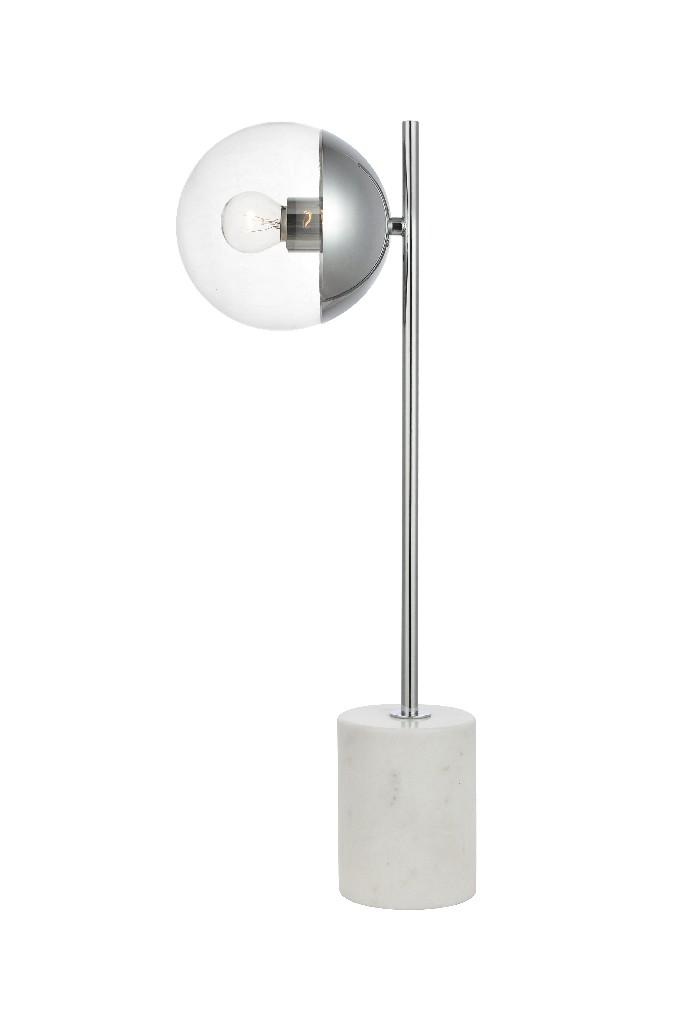 Elegant | Chrome | Clear | Glass | Table | Light | Lamp