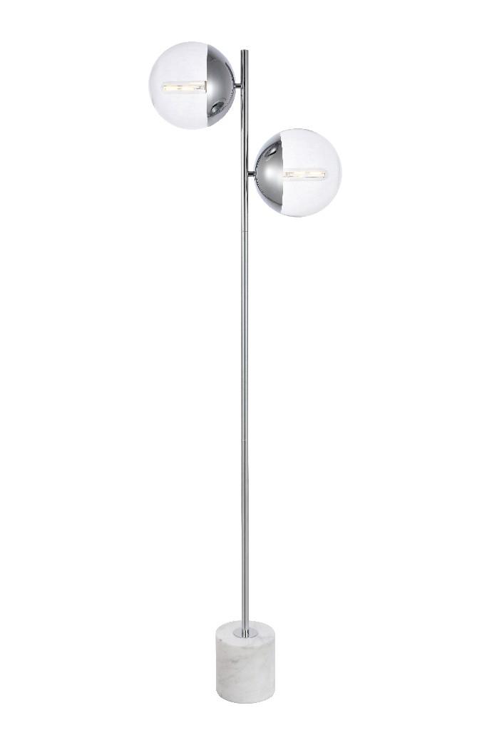 Elegant | Chrome | Floor | Clear | Glass | Light | Lamp