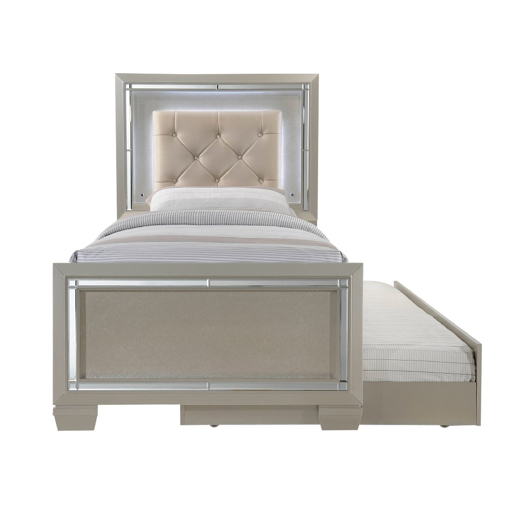 Picket House Glamour Youth Twin Platform Trundle Bedroom Set