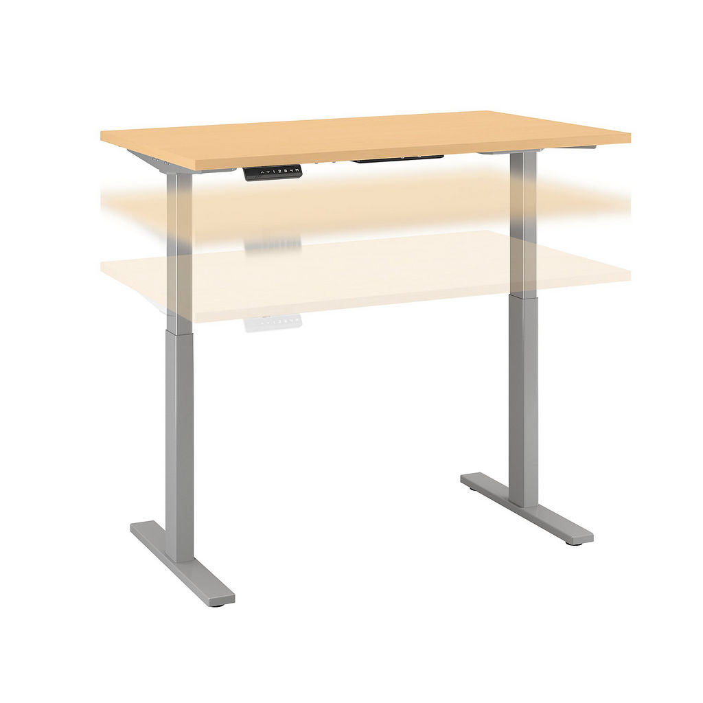 Bush Business Furniture M6S4830ACSK - Move 60 Series by 48W x 30D Height Adjustable Standing Desk in Natural Maple w/ Cool Gray Metallic Base