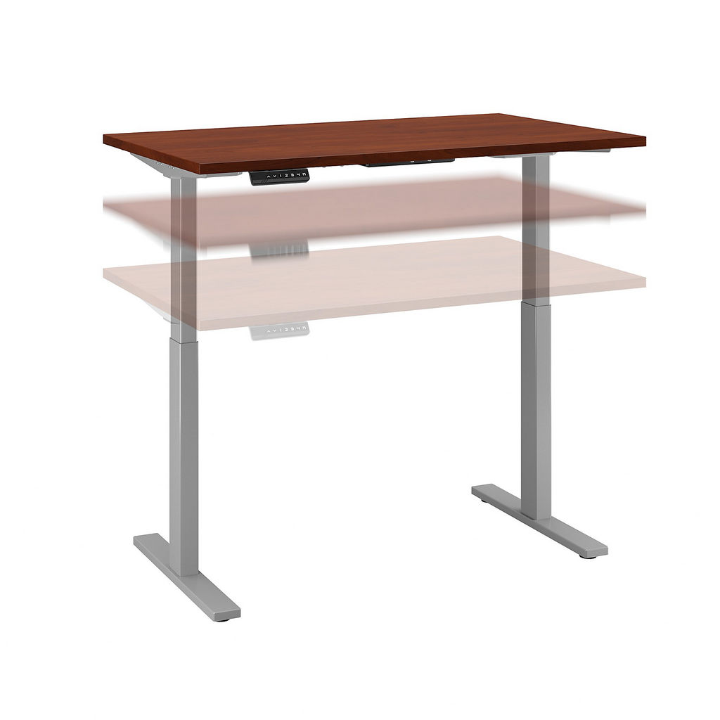 Bush Business Furniture M6S4830HCSK - Move 60 Series by 48W x 30D Height Adjustable Standing Desk in Hansen Cherry w/ Cool Gray Metallic Base