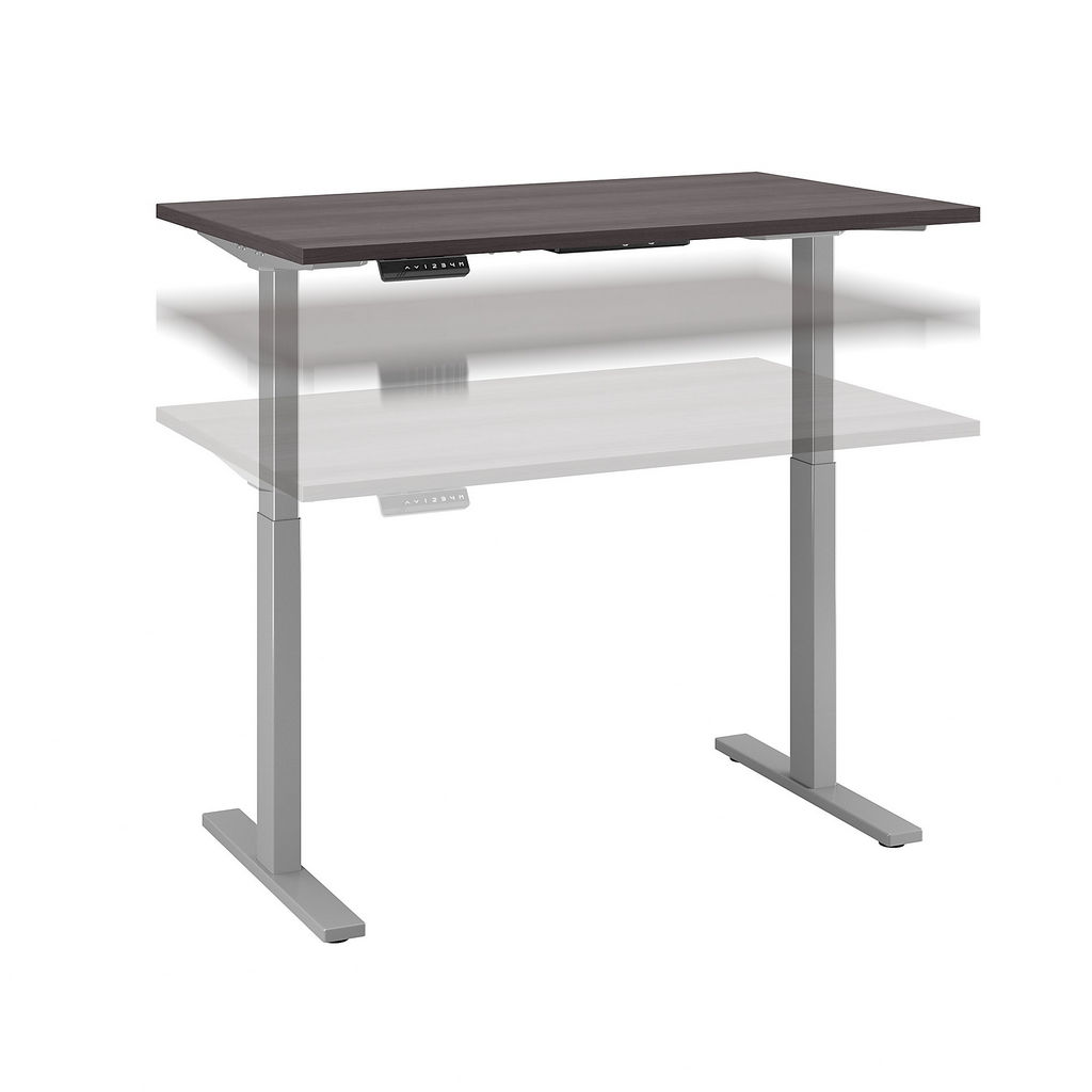 Bush Business Furniture M6S4830SGSK - Move 60 Series by 48W x 30D Height Adjustable Standing Desk in Storm Gray w/ Cool Gray Metallic Base
