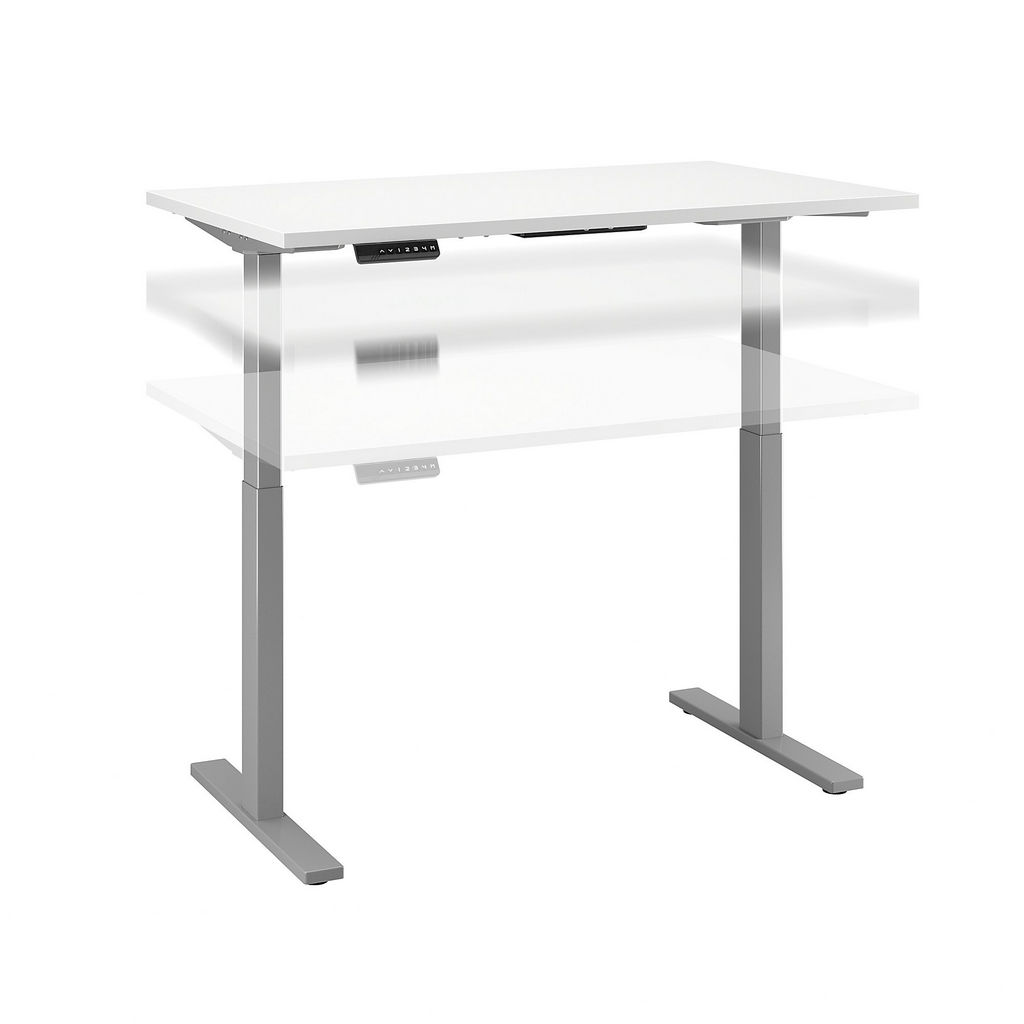 Bush Business Furniture M6S4830WHSK - Move 60 Series by 48W x 30D Height Adjustable Standing Desk in White w/ Cool Gray Metallic Base