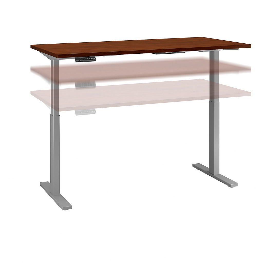 Bush Business Furniture M6S6030HCSK - Move 60 Series by 60W x 30D Height Adjustable Standing Desk in Hansen Cherry w/ Cool Gray Metallic Base