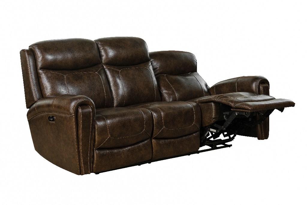 Barcalounger Power Reclining Sofa Power Head Rests Tri Tone Chocolate