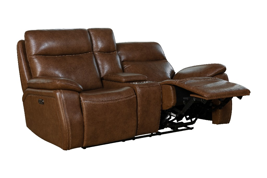 Barcalounger Micah Console Loveseat Power Recline Power Head Rests