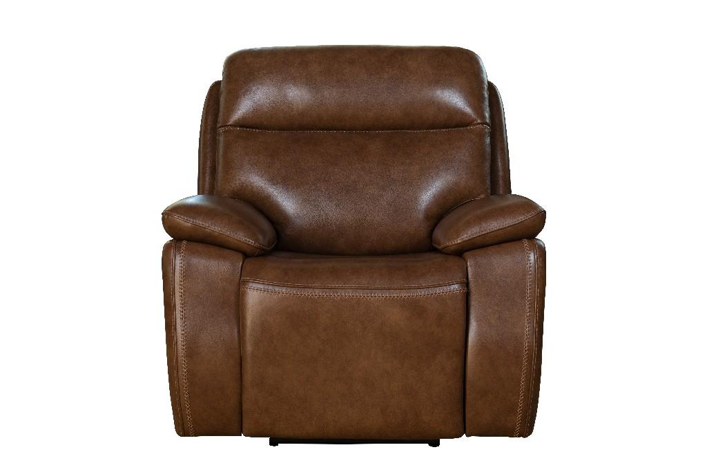 Barcalounger Micah Power Recliner Power Head Rest Misha Chestnut Leather Match