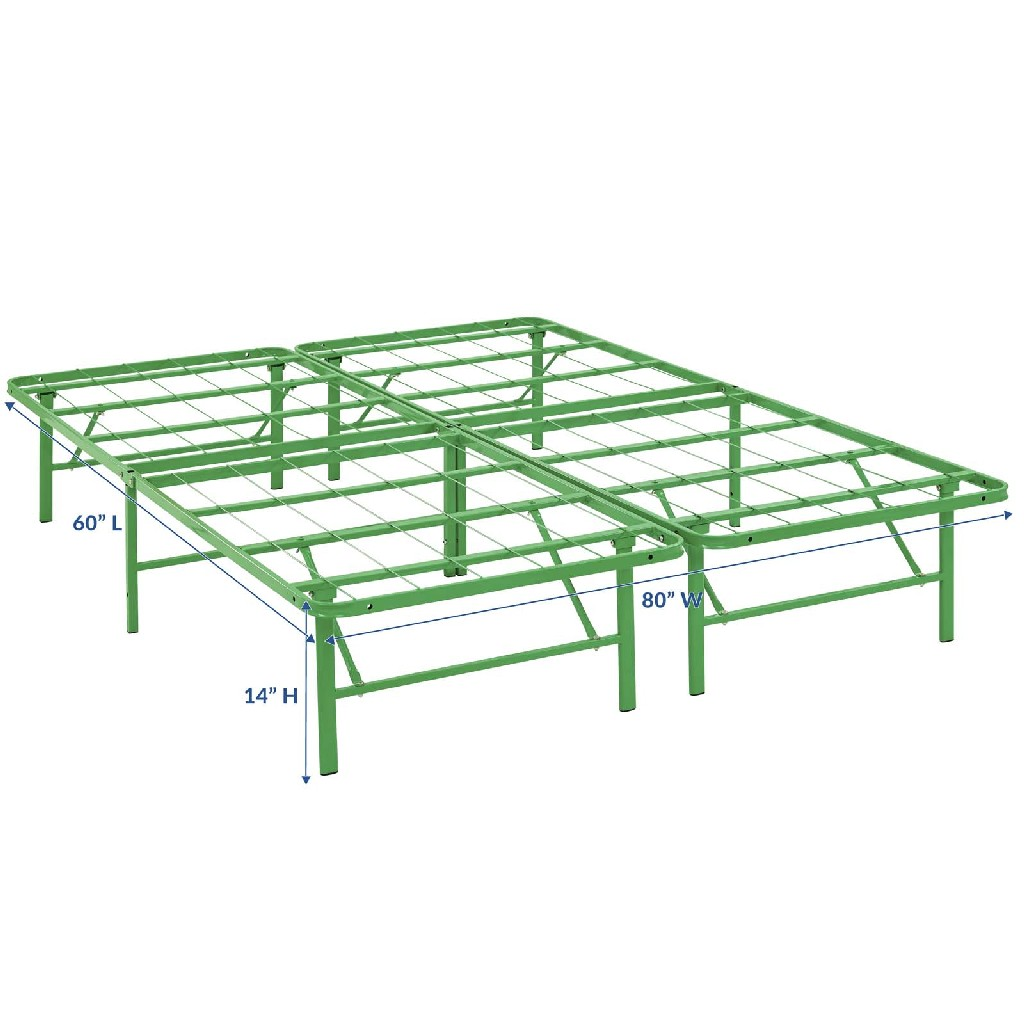 Horizon Queen Stainless Steel Bed Frame Mod 5429 Grn