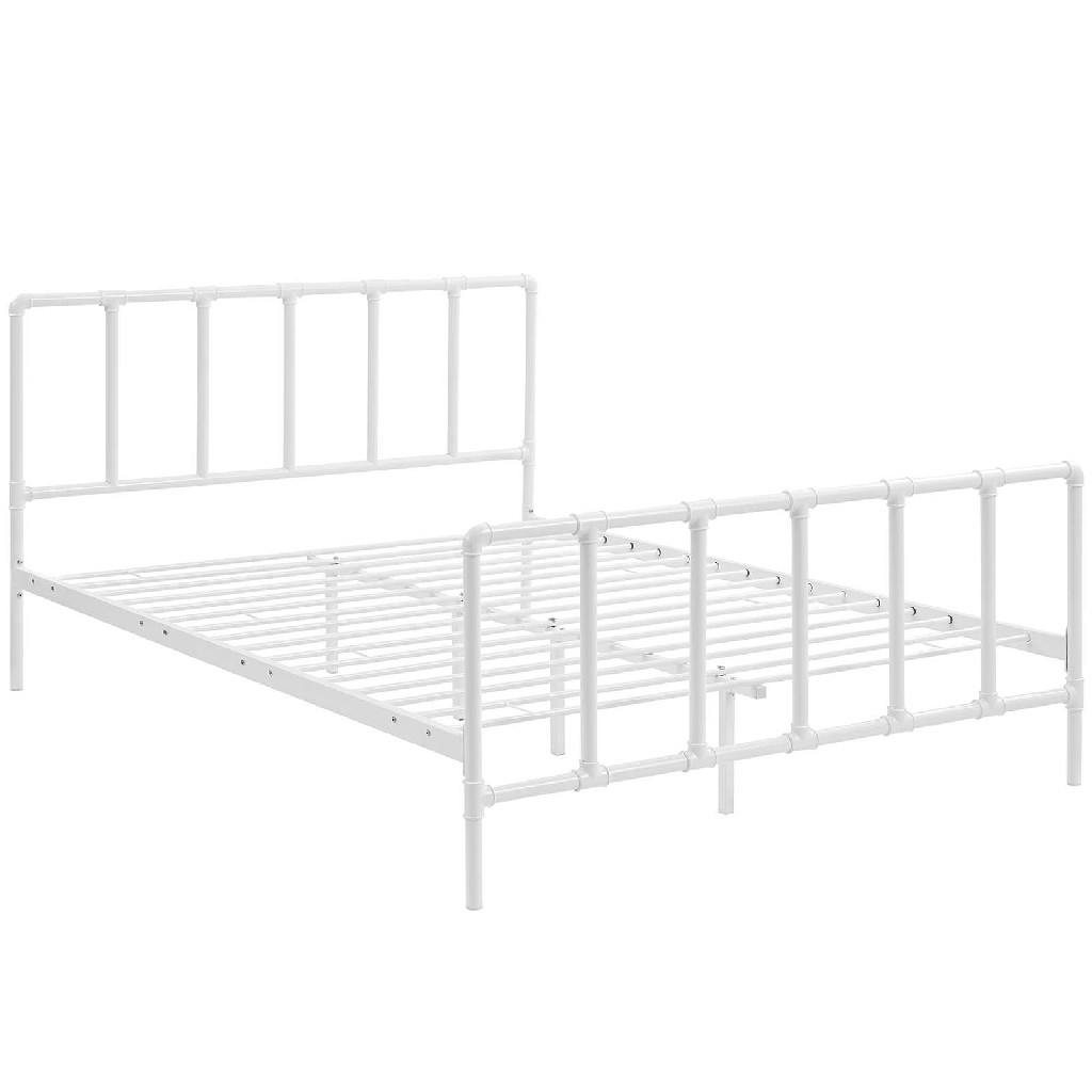 Dower Queen Stainless Steel Bed Mod 5437 Whi