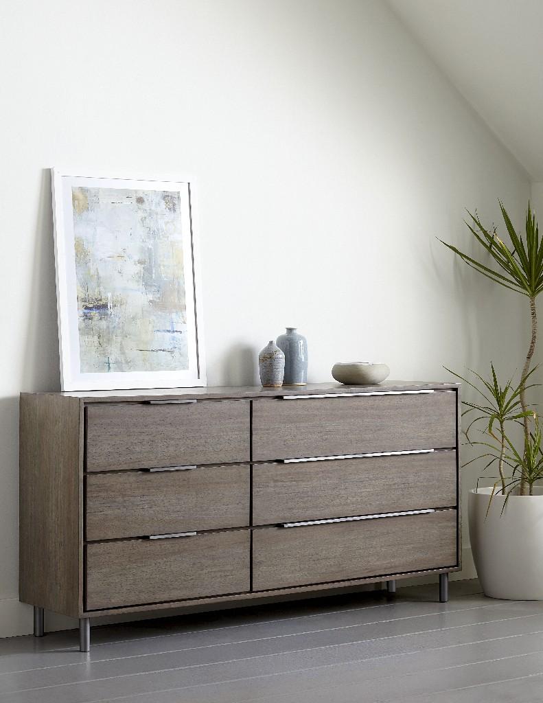 Berkeley 6 Drawer Dresser in Butcher Block - Modus 3DP582 Image