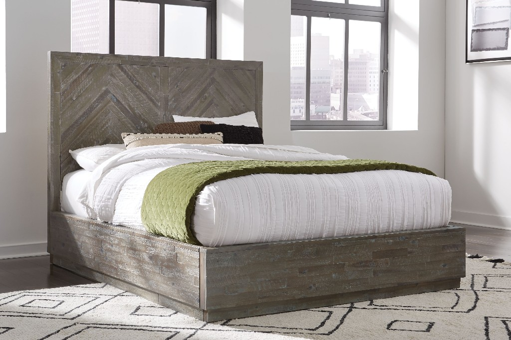 Modus Furniture Storage Bed Queen Wood Photo