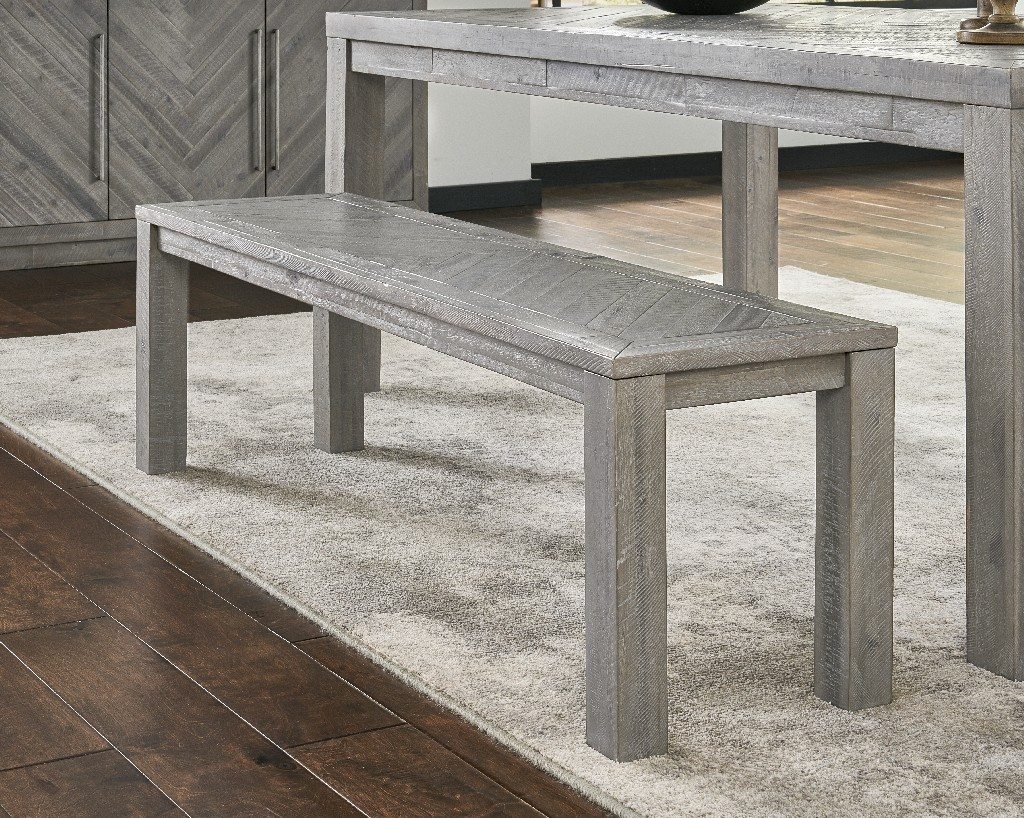 Alexandra Solid Wood Dining Bench in Rustic Latte - Modus 5RS371