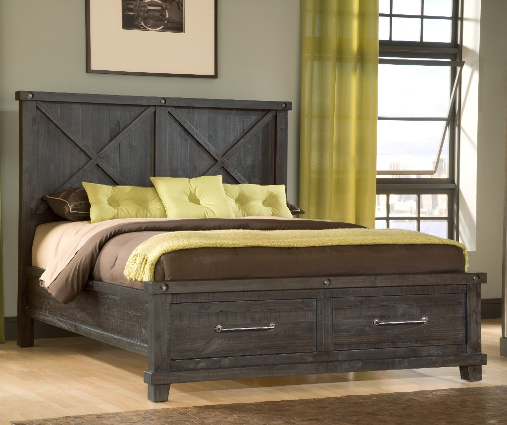 Modus Queen Wood Footboard Storage Bed