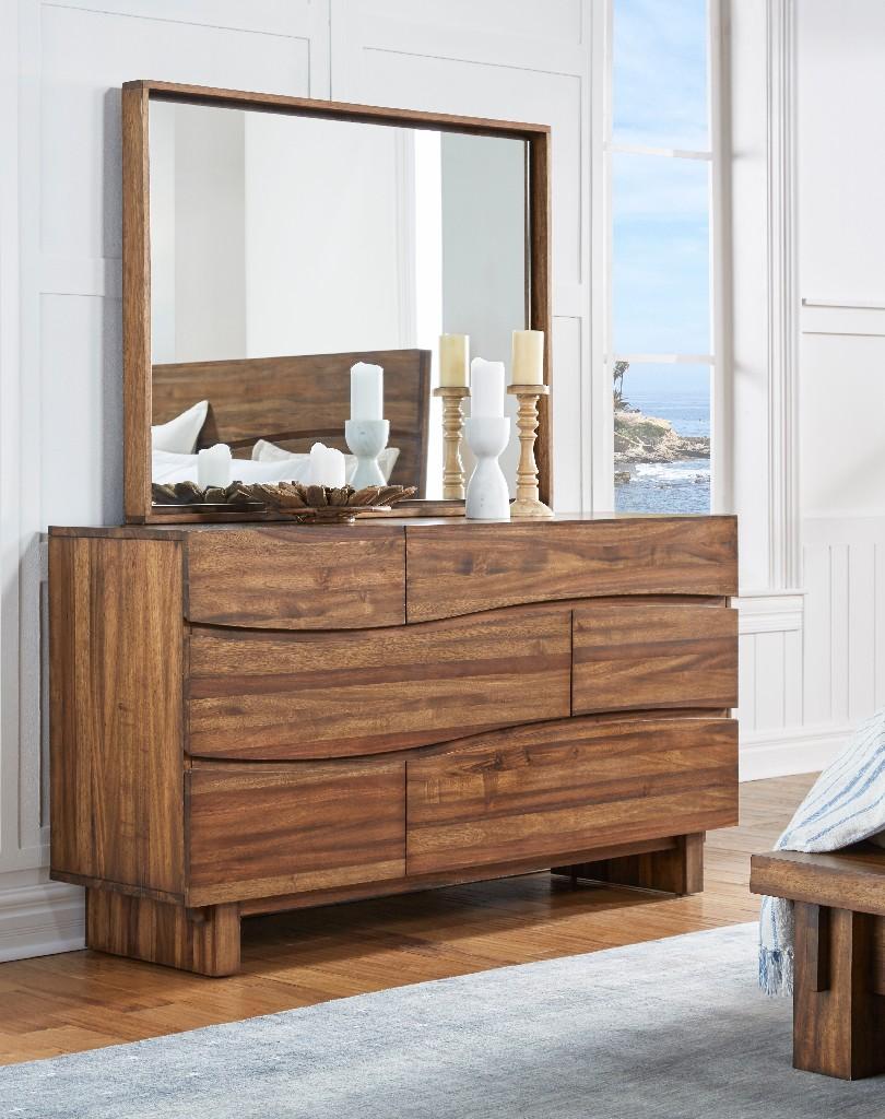Ocean Six Drawer Solid Wood Dresser in Natural Sengon - Modus 8C7982 Image