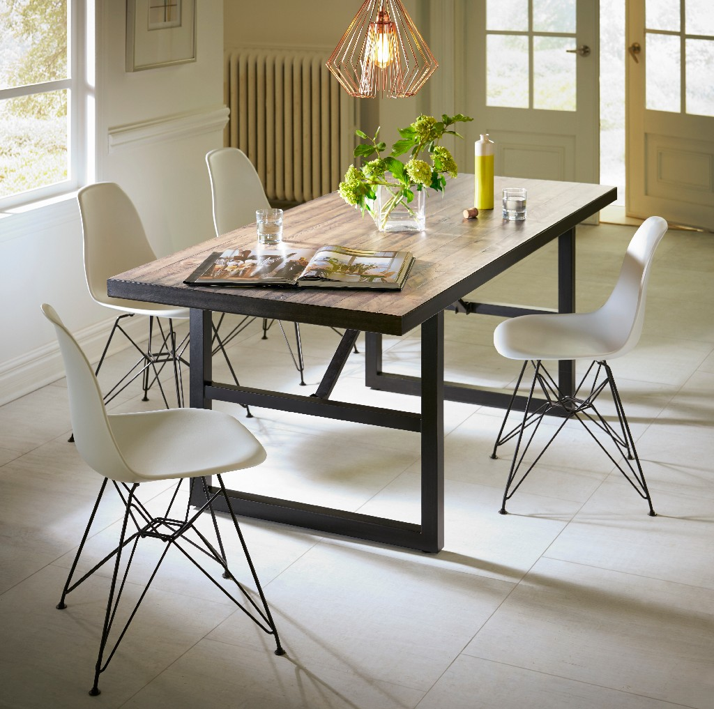 Modus Wood Steel Dining Table Rectangular