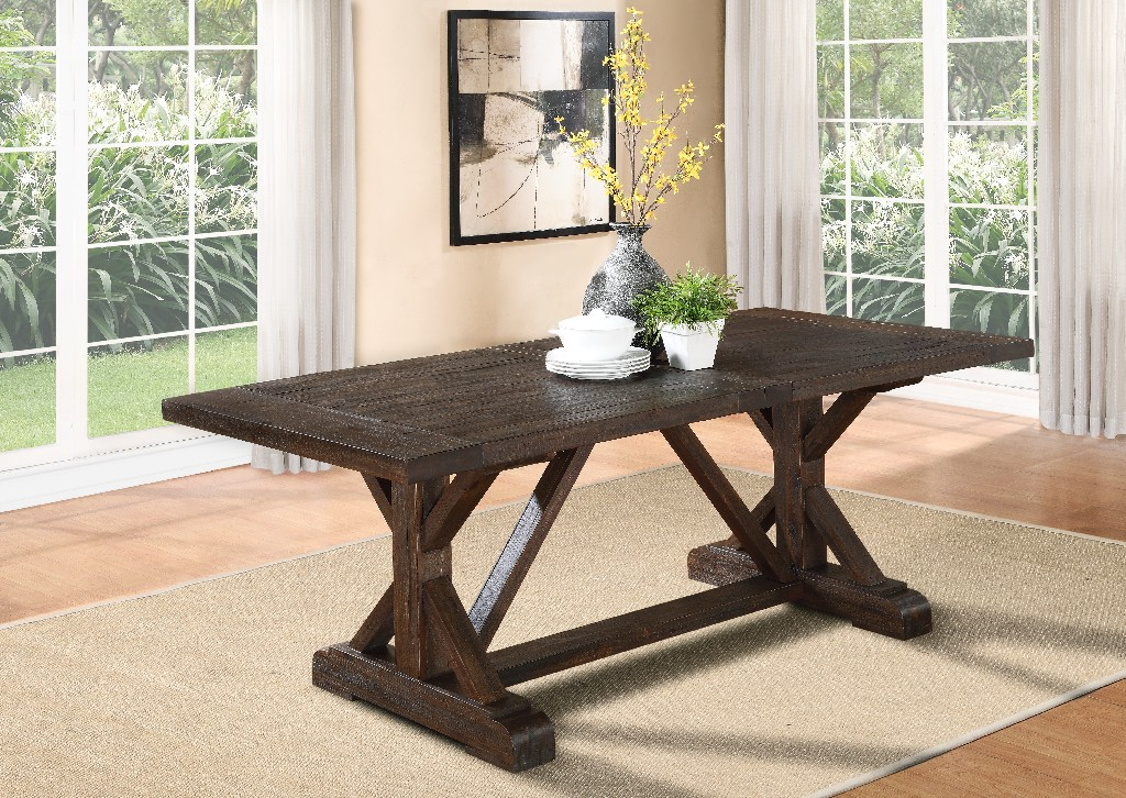 Cameron Wood Extension Dining Table Antique Charcoal Modus