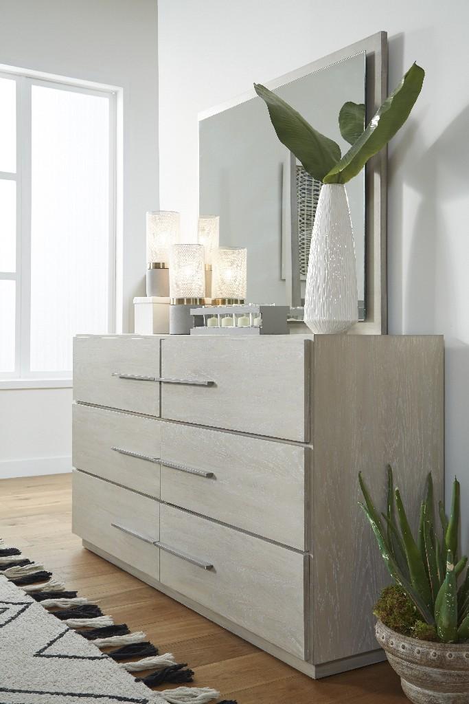 Destination Six Drawer Dresser in Cotton Grey - Modus DEZ782 Image