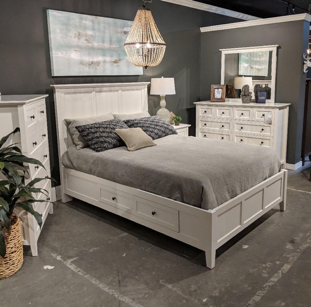 Modus King Four Drawer Storage Bed White Modus