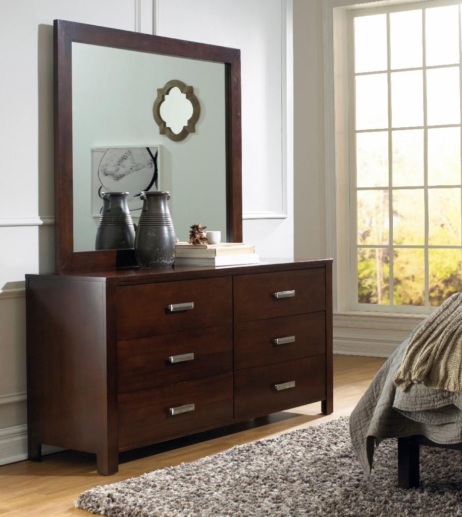 Riva Six Drawer Dresser in Chocolate Brown - Modus RV2682 Image
