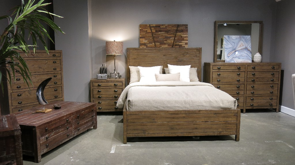 Modus King Wood Panel Bed