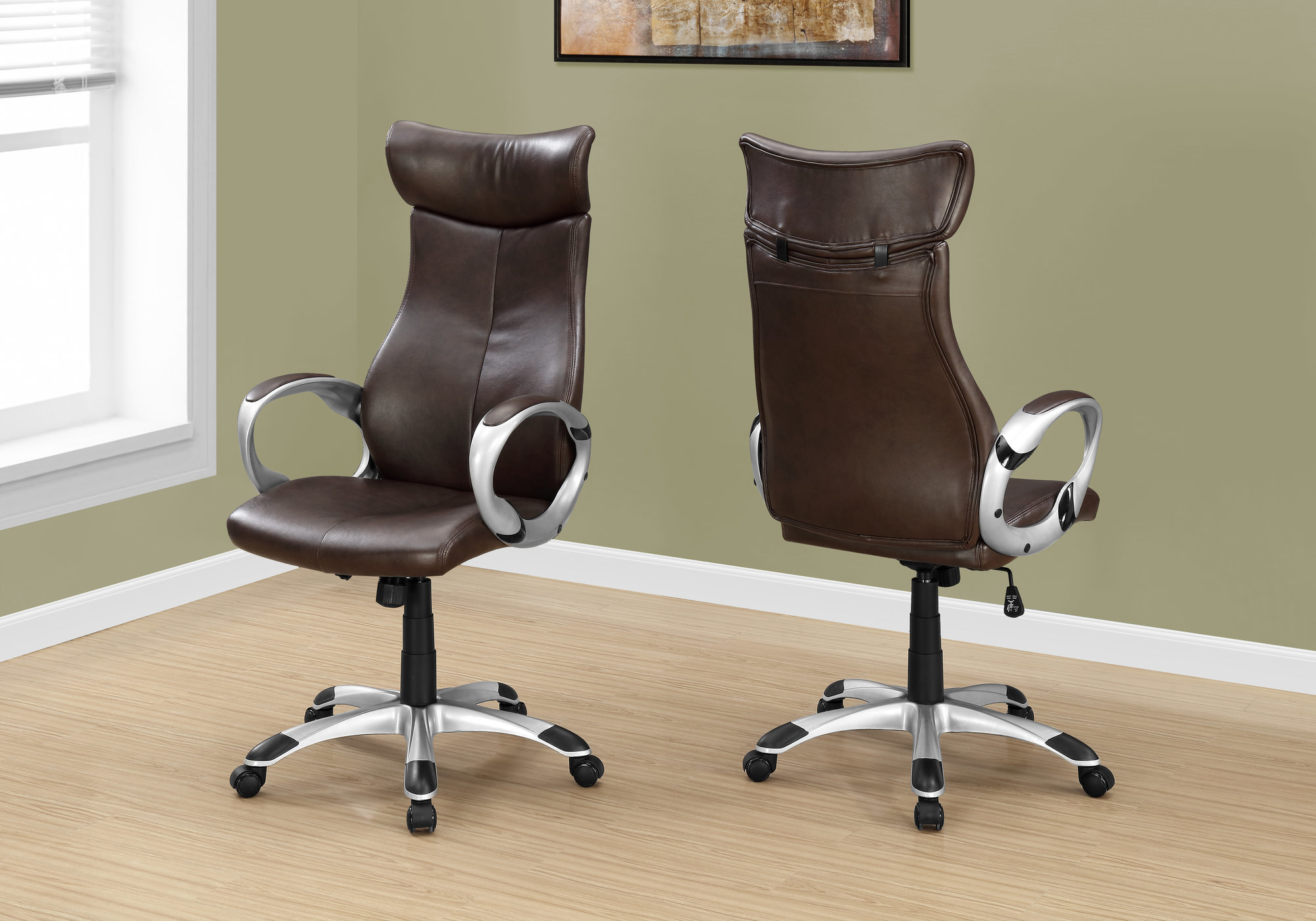 Executive | Office | Brown | Chair | Back | High