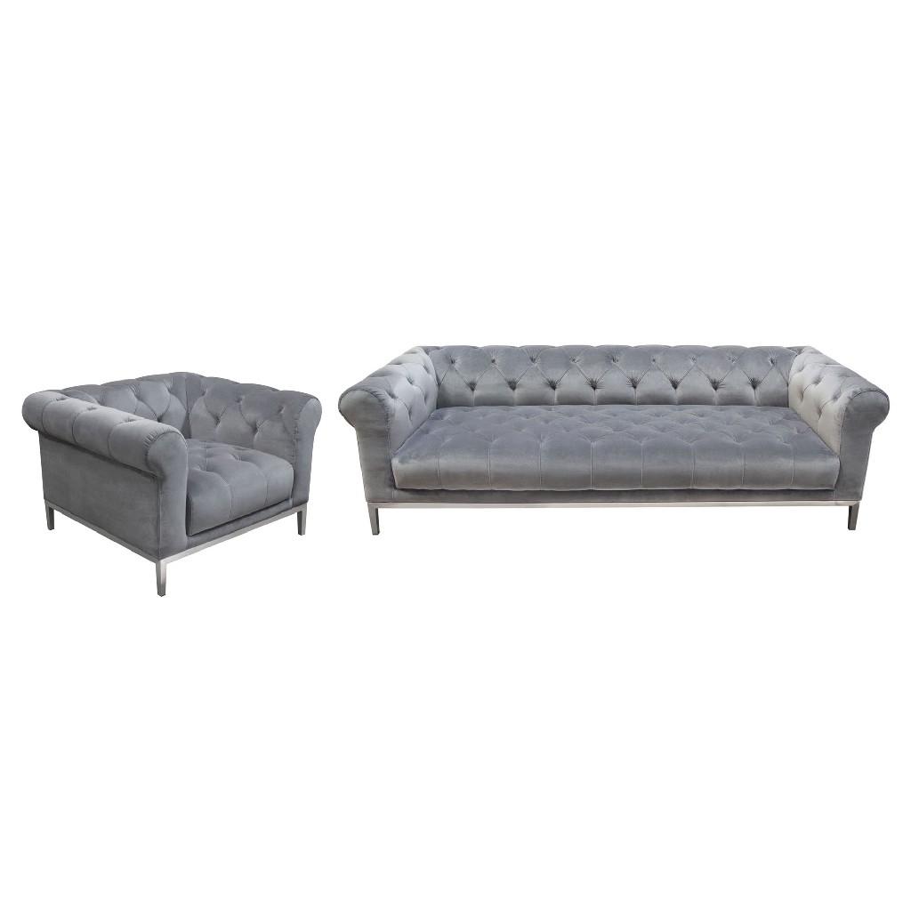 Tufted Sofa Chair Set