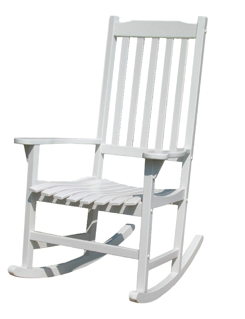 Traditional Rocking Chair, White Painted - Northbeam MPG -PT -41110WP