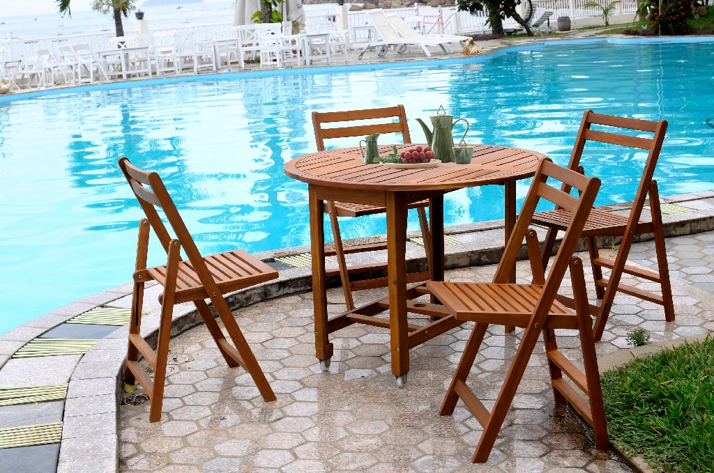 Acacia Folding Dining Chairs (Set of 4) - Northbeam MPG -TBS01 -CH