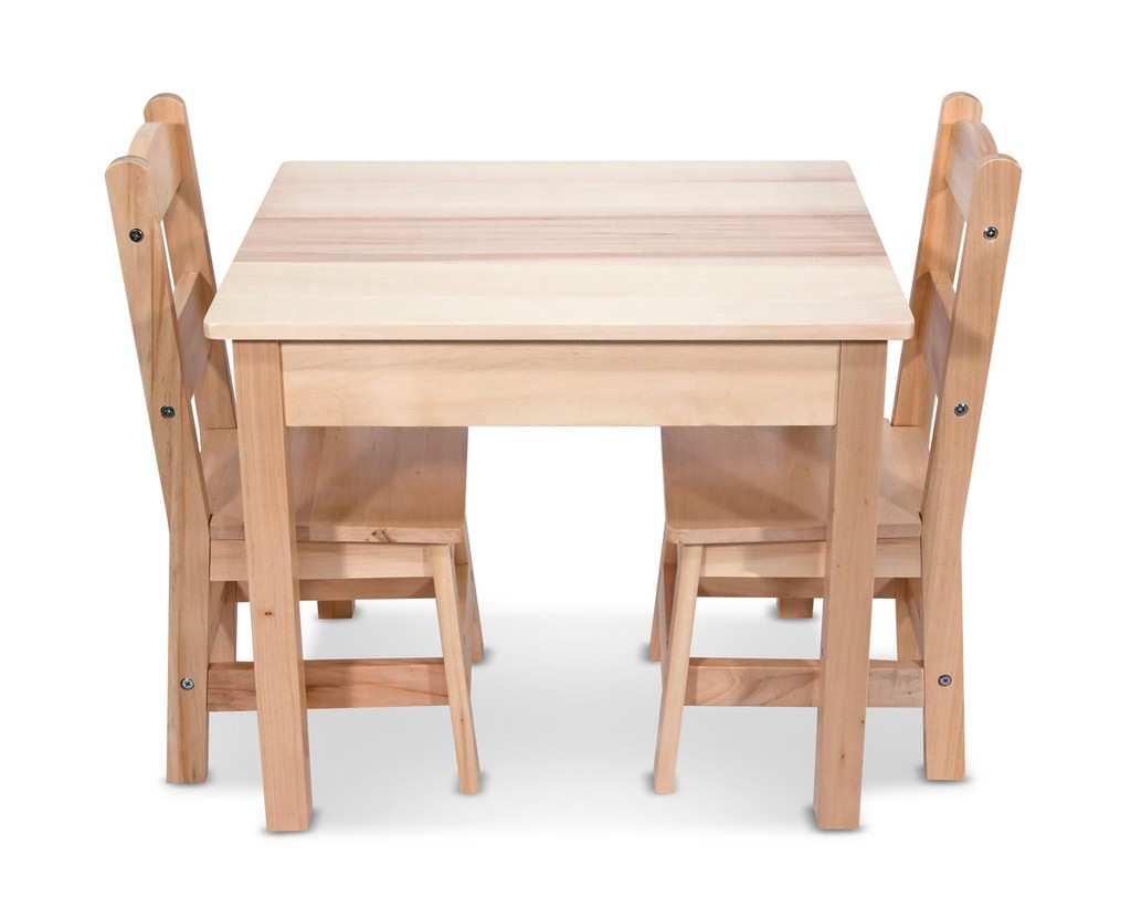 Melissa & Doug Wooden Table & Chairs 3-Piece Set - MS2427