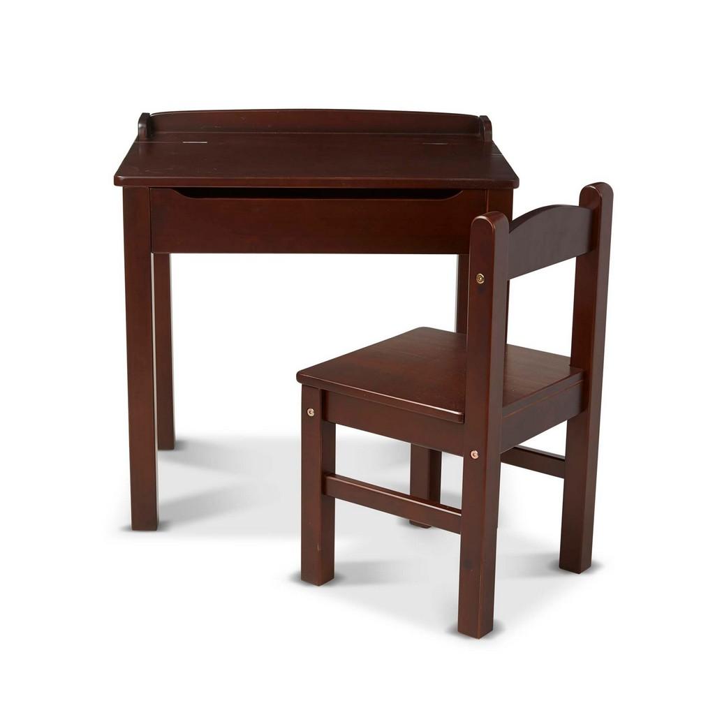 Wooden Lift-Top Desk & Chair, Espresso - MS30232